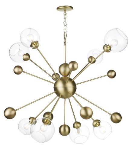 Cosmos 8 light horizontal pendant in butter brass COS0840H (7-10 day delivery)